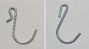 metalowe haczyki do clip stripów, oba modele