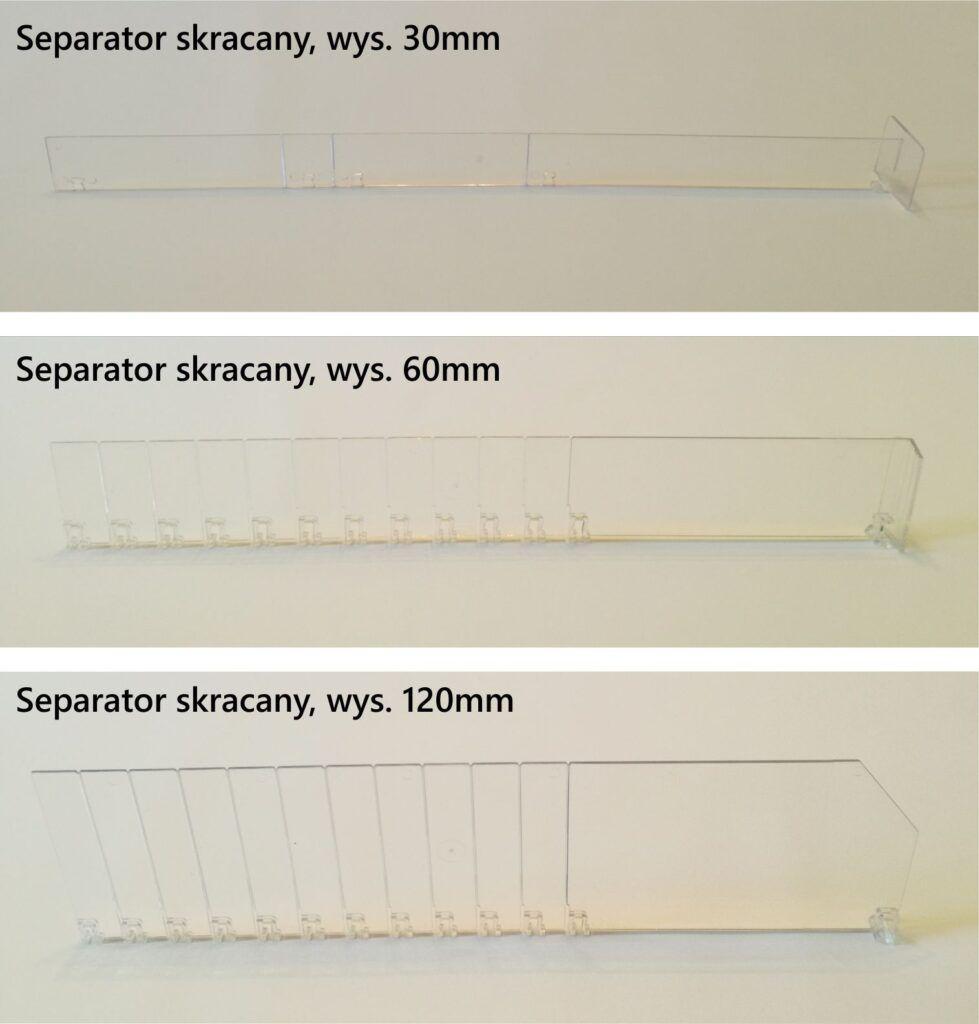 separatory oddzielacza towaru 30,60,120 mix