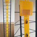 żółty strip z żabkami 10 haczyków, topper 10x10cm