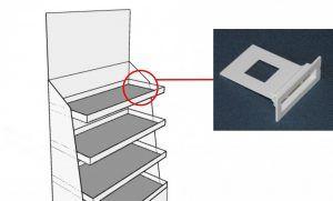 szybkozłączka, podpórka do półek w standach