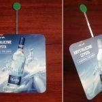 wobbler reklamowy z metalowym kiwakiem, ramionkiem, pos